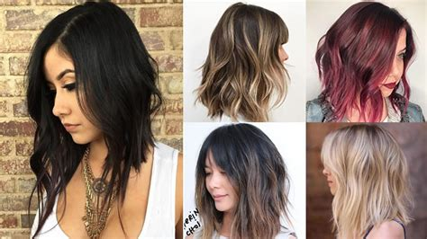 long bob hairstyles  hair colors balayage