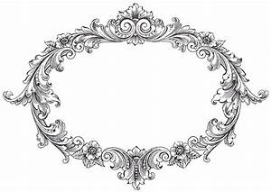 Vintage Clip Art Fancy Oval Frame Vintage clip art, Oval frame and Vintage clip