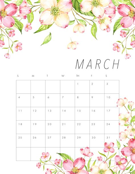 month march 2018 wallpaper archives amazing buy buy baby nursery free printable 2018 floral calendar the cottage market