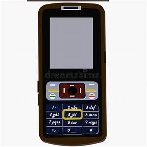 Handphone Object For Diagram And Presentation Stock