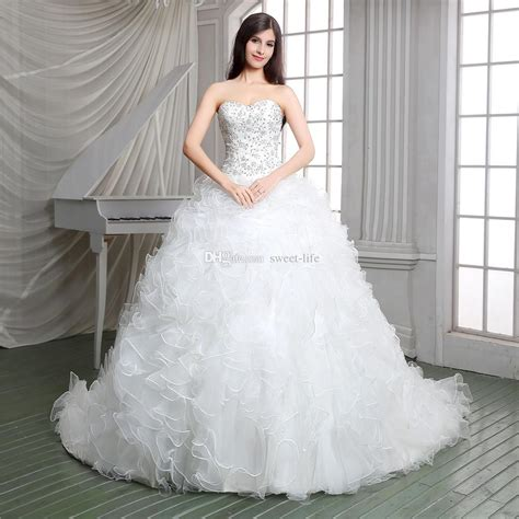 real pictures  white ball gown church designer wedding