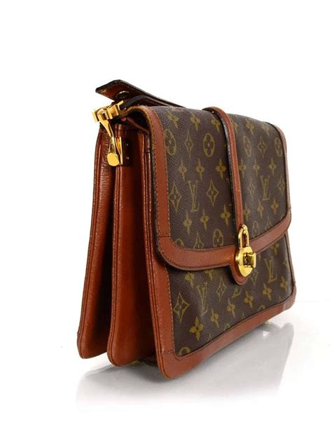 louis vuitton vintage monogram flap bag ghw  sale