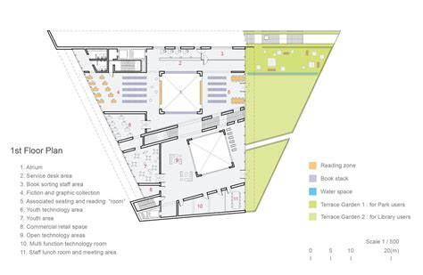 house and floor plans gallery of green square library plaza design competition