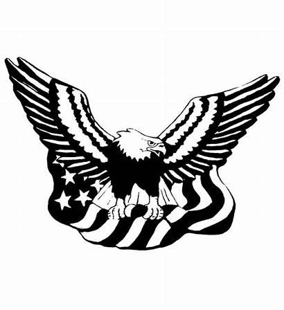 Eagle Flag American Clipart Drawing Patriotic Stencil