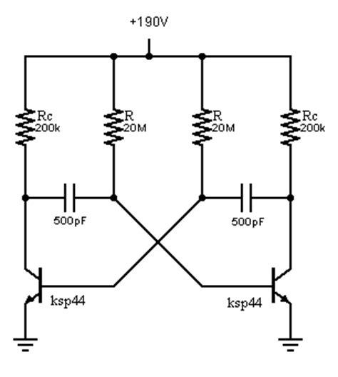 High Voltage Astable Multivibrator Problem