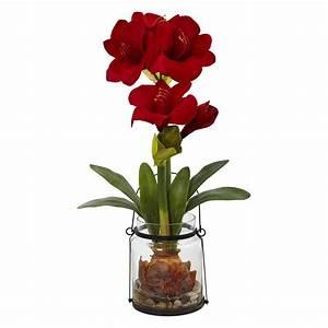 Amaryllis In Der Vase : nearly natural amaryllis silk flower silk flowers at ~ Lizthompson.info Haus und Dekorationen