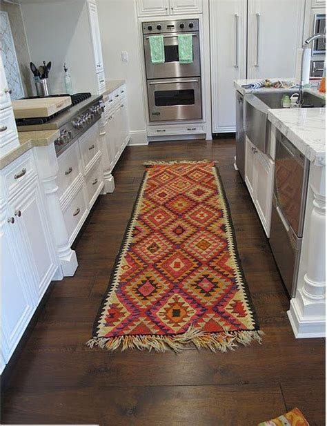 runners for kitchen floor add a kitchen runner rug easy way to add color and 4953