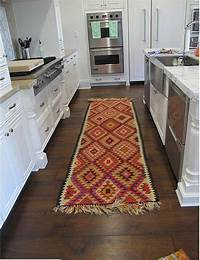 kitchen rugs and runners add a kitchen runner/ rug - easy way to add color and style to your kitchen - and it will hide ...