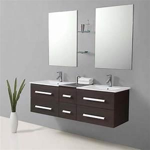 idee meuble salle de bain wenge pas cher With meuble salle de bain complet pas cher