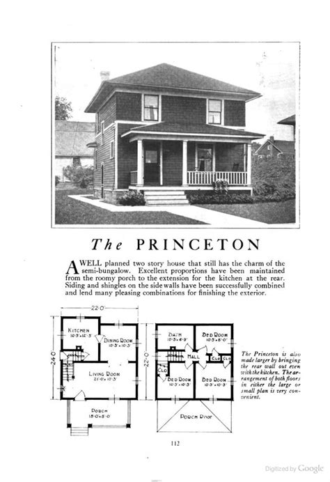 princeton  american foursquare kit househouse plan homes  character lewis