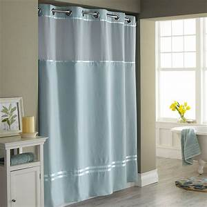 Hookless Shower Curtain With Snap Liner Decor IdeasDecor