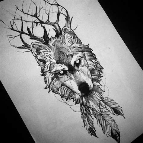 resultats de recherche dimages pour wolf drawing tattoo