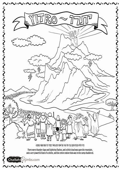 Coloring Pages Lightning Thunder Torah Printable Parshat