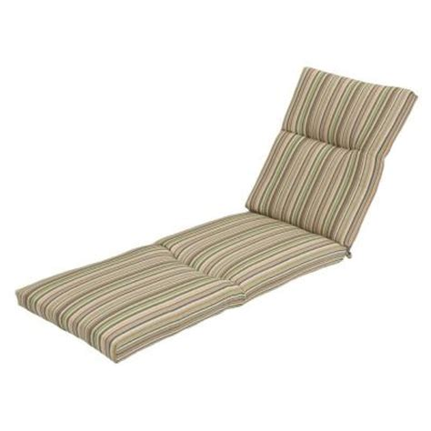 home depot green bay hampton bay green stripe deluxe outdoor chaise lounge