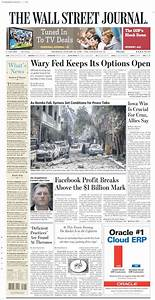Newspaper Wall Street Journal (USA). Newspapers in USA ...