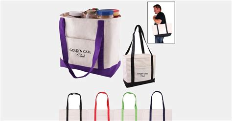 personalized tote bag cotton canvas boat tote
