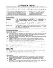 senior php developer resume sle senior sales engineer resume
