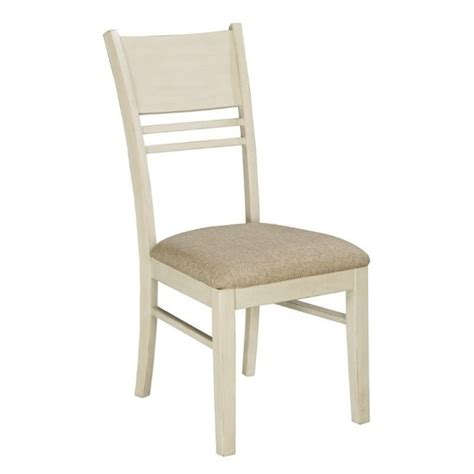 arrowtown upholstered dining chair in white d552 01