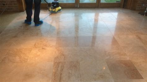 cleaning sealing and polishing travertine tiles floors