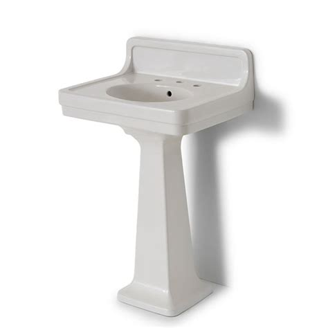 Alden Pedestal Sink With Backsplash Rebuilding Project
