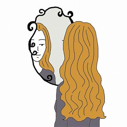 Reflection Mirror Clipart Self Transparent Confused Dictionary
