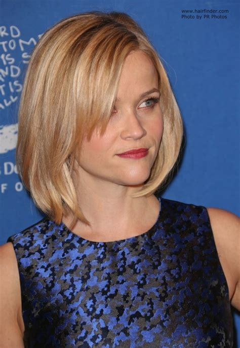 reese witherspoon blonde hair   longer bob  side