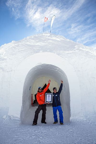 largest dome igloo   snow  unveiled  switzerland