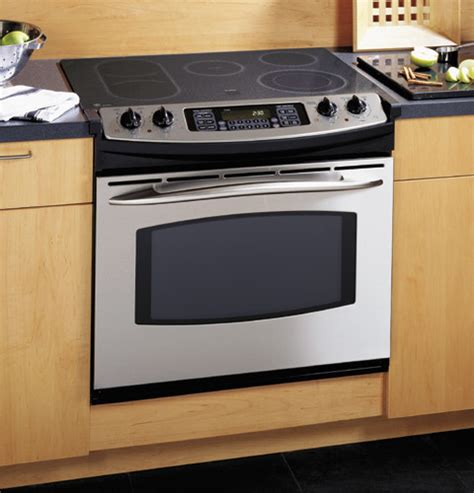 drop in electric ranges with downdraft ge jd750sfss 30 quot drop in electric convection range with 5