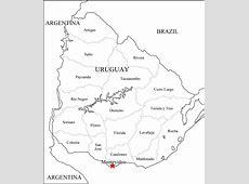 Mapa político de Uruguay para imprimir Mapa de