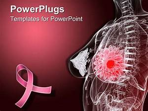 powerpoint template imaginative female anatomy depicting With breast cancer ppt template