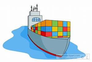 Ships Clipart- transportation-cargo-ship-with-containers ...