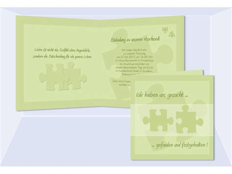 einladungskarten hochzeit hochzeitskarte puzzle