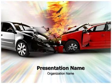 car accident powerpoint template background