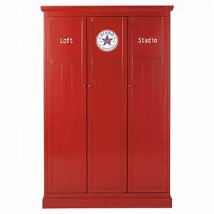 Dressing Maison Du Monde : dressing rouge l 125 cm newport maisons du monde ~ Nature-et-papiers.com Idées de Décoration