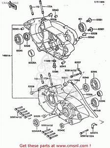 Kawasaki Kdx200-a2 1984 United Kingdom Al Crankcase