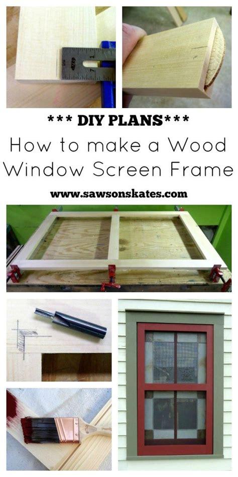 Fenster Sichtschutz Holz by How To Make Diy Wood Window Screens Free Plans Best