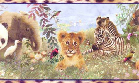Animal Border Wallpaper - baby zoo animals wallpaper border wallpaper border