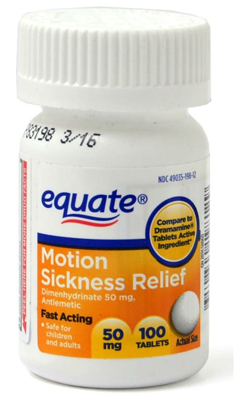 generic dramamine equate motion sickness dimenhydrinate 50