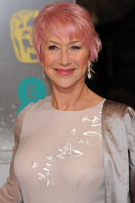Helen Mirrens Pink Hair Bafta Beauty Looks
