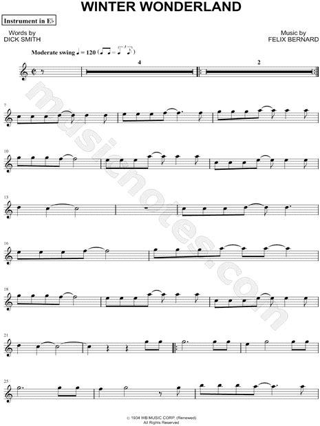 felix bernard winter wonderland eb instrument sheet