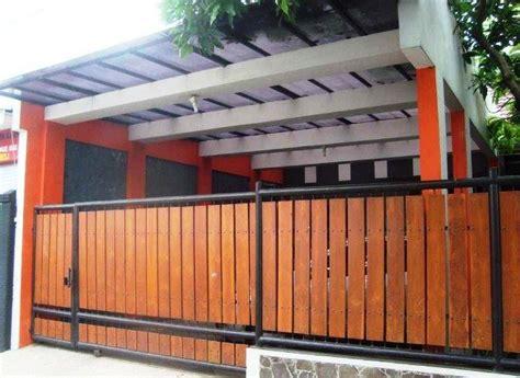 populer pagar minimalis wood plank pagar minimalis
