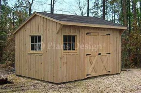 10 X 14 Saltbox Shed Plans by 10 X 12 Utility Garden Saltbox Style Shed Plans