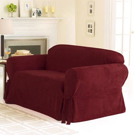Loveseat Cover Walmart by Sure Fit Soft Suede Sofa Slipcover Walmart