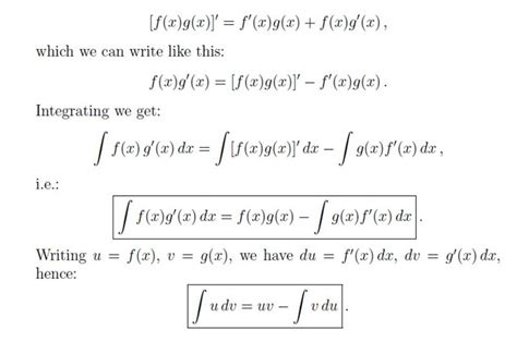 Lecture In Integration By Parts  Engineering Problem Solving & Reference Pinoybixorg