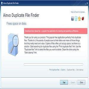 downloaden ainvo duplicate file finder fuer windows freeware