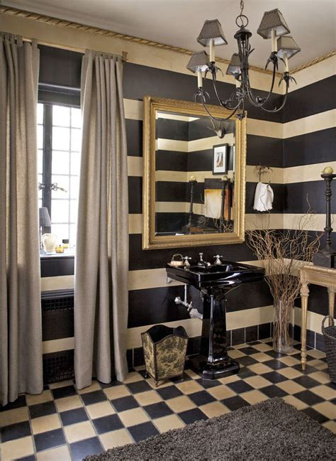 Handsome Showhouse Rooms by With A Handsome Palette And Strong Patterns His Powder