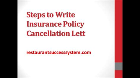 steps  write insurance policy cancellation letter