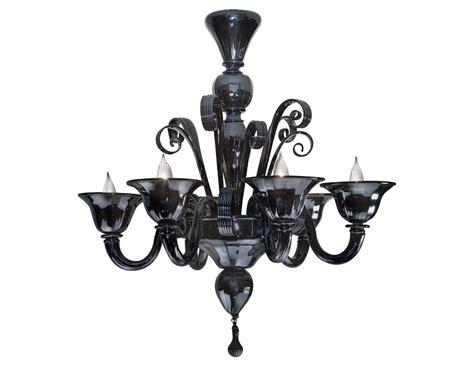 leucos lighting nella vetrina black murano 6 959 6 murano chandelier in black