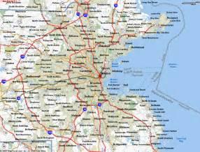 Boston Massachusetts City Map