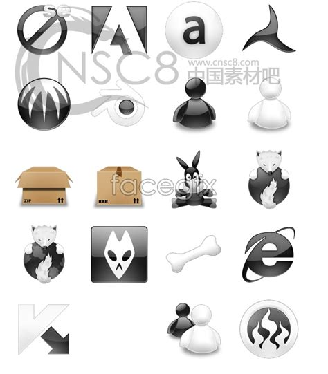 software icons  black  white